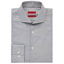 Buy HUGO by Hugo Boss C-Jason Mini Weave Slim Fit Shirt, White/Black Online at johnlewis.com