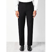 Buy John Lewis Wool Basket Weave Regular Fit Dress Suit Trousers, Black Online at johnlewis.com