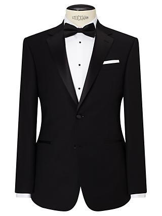 John Lewis & Partners Notch Lapel Basket Weave Regular Fit Dress Suit Jacket, Black
