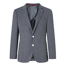 Buy HUGO by Hugo Boss C-Hamilton Fine Polka Dot Slim Fit Blazer, Medium Blue Online at johnlewis.com