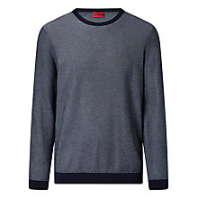 Buy HUGO by Hugo Boss Sarmon Finely Patterned Jumper Online at johnlewis.com