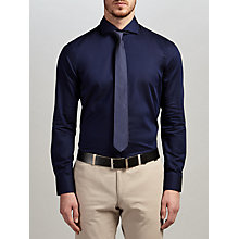 Buy HUGO by Hugo Boss C-Jason Textured Cotton Oxford Slim Fit Shirt, Medium Blue Online at johnlewis.com