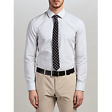 Buy HUGO by Hugo Boss Jenno Square Weave Slim Fit Shirt, White/Black Online at johnlewis.com