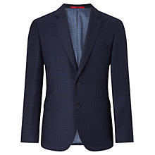Buy HUGO by Hugo Boss C-Jeys Window Check Weave Blazer, Navy Online at johnlewis.com