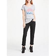 Buy AND/OR Silverlake Straight Leg Jeans, Black Online at johnlewis.com