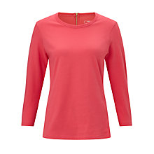 Buy John Lewis Three Quarter Sleeve Zip Back T-Shirt Online at johnlewis.com