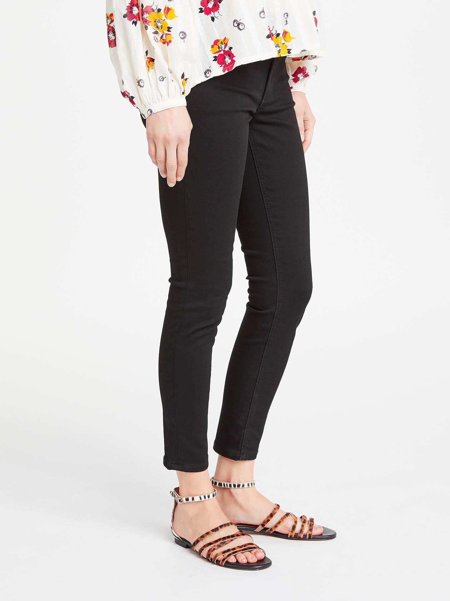 BuyAND/OR Avalon Ankle Grazer Jeans, Black, 26 Online at johnlewis.com