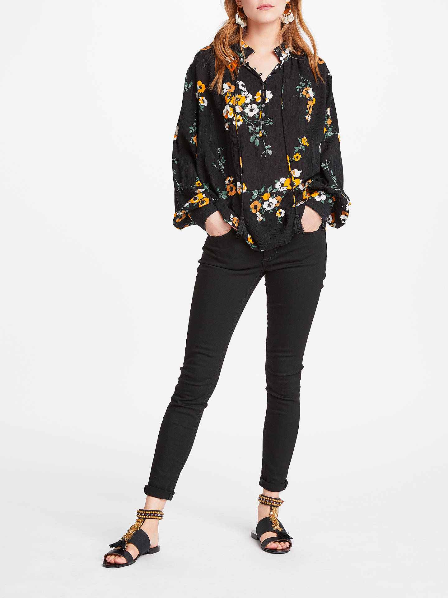 BuyAND/OR Abbot Kinney Skinny Jeans, Black, 26 Online at johnlewis.com