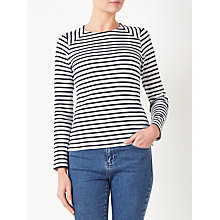 Buy Collection WEEKEND by John Lewis Breton Stripe Zip Back Top Online at johnlewis.com