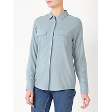 Buy John Lewis Pocket Detail Shirt, Pale Blue Online at johnlewis.com