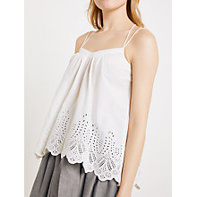 Buy AND/OR Embroidered Cotton Cami, White Online at johnlewis.com