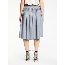 Buy AND/OR Full Midi Skirt, Chambray Blue Online at johnlewis.com