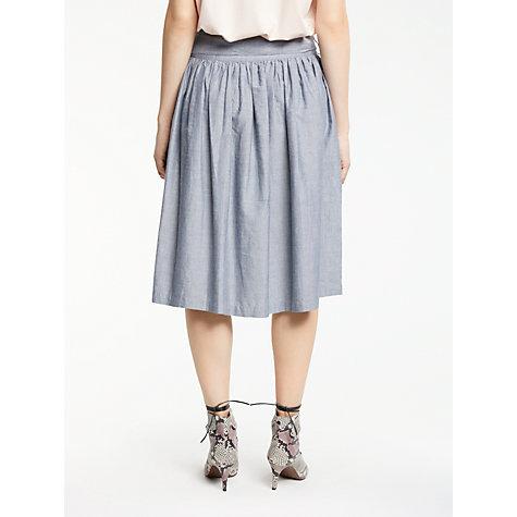 Buy AND/OR Full Midi Skirt, Chambray Blue | John Lewis