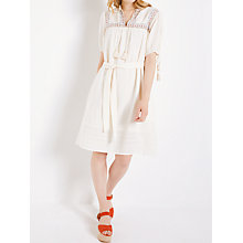 Buy AND/OR Becca Embroidered Short Sleeve Dress, White Online at johnlewis.com