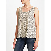 Buy Collection WEEKEND by John Lewis Mimosa Sketchy Hearts Vest Top, Cream/Navy Online at johnlewis.com