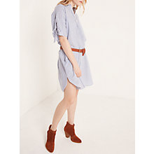 Buy AND/OR Stripe Long Shirt Dress, Blue/White Online at johnlewis.com