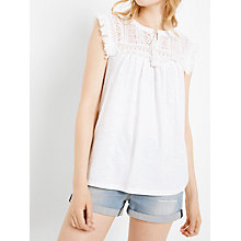 Buy AND/OR Lace Yoke Top Online at johnlewis.com