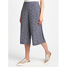 Buy Collection WEEKEND by John Lewis Sketchy Hearts Culottes, Navy/Cream Online at johnlewis.com