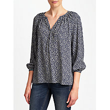 Buy Collection WEEKEND by John Lewis Lavinia Sketchy Hearts Top, Navy/Cream Online at johnlewis.com