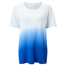 Buy Collection WEEKEND by John Lewis Ombre Linen Drop Shoulder T-Shirt, Blue/White Online at johnlewis.com