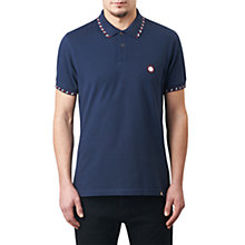 Buy Pretty Green Elmwood Slim Fit Polo Shirt, Navy Online at johnlewis.com