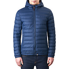 Buy Pretty Green Pembrook Slim Fit Quilted Jacket, Navy Online at johnlewis.com
