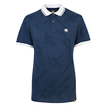 Buy Pretty Green Kirby Jacquard Polo Shirt, Navy Online at johnlewis.com