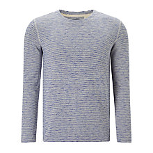 Buy Levi's Made & Crafted  Safari Stripe Long Sleeve T-Shirt, Blue Online at johnlewis.com