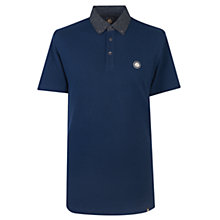Buy Pretty Green Mayflower Floral Collar Polo Shirt, Navy Online at johnlewis.com