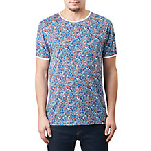 Buy Pretty Green Camley Paisley Print T-Shirt, Blue Online at johnlewis.com