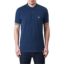 Buy Pretty Green Tedburn Short Sleeve Polo Shirt, Navy Online at johnlewis.com
