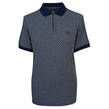 Buy Pretty Green Saunton Stripe Jacquard Polo Shirt, Navy Online at johnlewis.com
