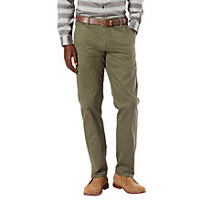 Buy Dockers Alpha Stretch Slim Tapered Chinos, Olive Online at johnlewis.com