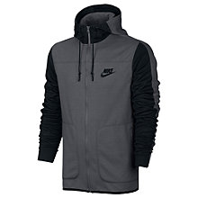 Buy Nike Sportswear Advance 15 Hoodie, Grey/Black Online at johnlewis.com