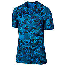 Buy Nike Pro Hypercool Digi Camo Print Training Top, Blue Online at johnlewis.com
