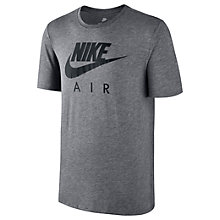 Buy Nike Sportswear Air T-Shirt, Carbon Heather/Black Online at johnlewis.com