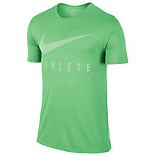 Buy Nike Dry Athlete Training T-Shirt, Tourmaline/Fresh Mint Online at johnlewis.com