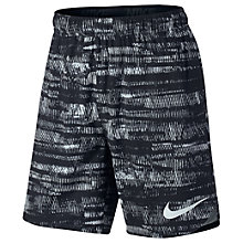 "Buy Nike Flex All Over Print 8"" Training Shorts, Black/Platinum Online at johnlewis.com"