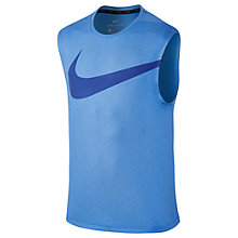 Buy Nike Breathe Training Tank, Blue Online at johnlewis.com