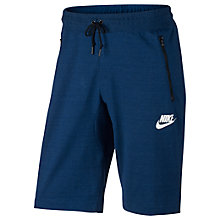 Buy Nike Sportswear Advance 15 Shorts, Binary Blue/White Online at johnlewis.com