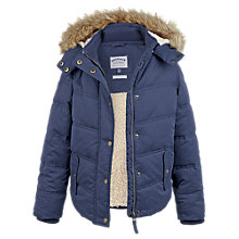 Buy Fat Face Girls' Ellie Shower Resistant Coat, Navy Online at johnlewis.com