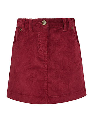 Buy John Lewis Girls' Corduroy Skirt, Magenta Berry, 2 years Online at johnlewis.com