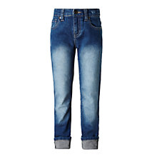 Buy John Lewis Girls' Loose Fit Jeans, Blue Online at johnlewis.com