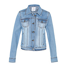 Buy Fat Face Girls' Denim Jacket, Blue Online at johnlewis.com