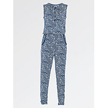 Buy Fat Face Girls' Cluster Jumpsuit, Navy Online at johnlewis.com