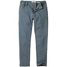 Buy Fat Face Girls' Printed Millisle Stretch Cotton Jeggings, Denim Online at johnlewis.com