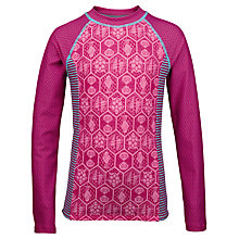 Buy Fat Face Girls' Sea Geometric Print Rash Vest, Fuchsia Online at johnlewis.com