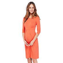 Buy Isabella Oliver Ivybridge Maternity Dress, Coral rose Online at johnlewis.com