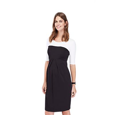 Isabella Oliver Laela Contrast Maternity Dress, Black/White