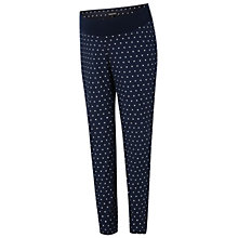 Buy Isabella Oliver Karina Polka Dot Cigarette Trousers, Navy Online at johnlewis.com